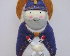 Full Nativity Felt Saint Softie Set STANDING by SaintlySilver