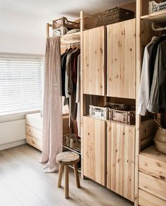 Ikea Bedroom, Bedroom Storage, Home Bedroom, Home Decor Signs, Cheap Home Decor, Ivar Regal, Dressing Ikea, No Closet Solutions, Home Remodel Costs