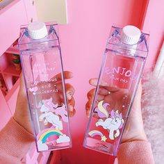 Cute Unicorn Milk Bottle Source by Things To Buy, Girly Things, Stuff To Buy, Girly Stuff, Cute Water Bottles, Milk Bottles, School Water Bottles, Tout Rose, Cute Unicorn