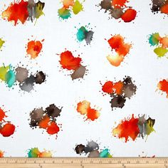 Michael Miller Painterly Color Drops Retro from @fabricdotcom  From Michael Miller, this fabric is perfect for quilting, apparel and home decor accents. Colors include orange, brown, grey, teal, citrine and white.
