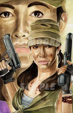 Rosita Espinosa-by ArtistAJMoore by GudFit on DeviantArt