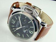 Parnis 44mm Black Dial Power Reserve Automatic Mechanical Watch Male Watch | eBay