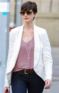 Cute layer look. Must get blazer this fall