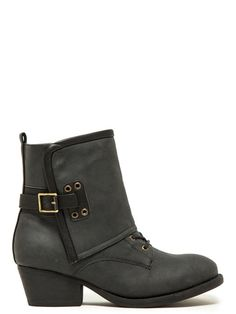 Qupid Military Style Kicker Boot | Fall Shoes | Shop Women's Missy & Plus Size Clothing