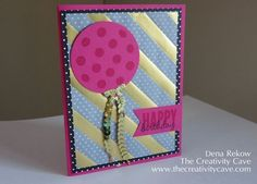 Celebrate Today Card Tutorial and Video on my blog today: www.thecreativitycave.com #stampinup, #thecreativitycave, Dena Rekow, Handmade Cards, Birthday Cards, Graduation Cards, Baby Cards, Rubberstamping
