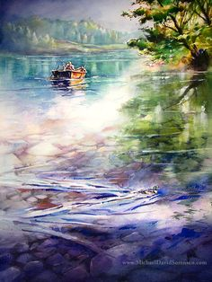 """Oregon Ducks"" - Watercolor by Michael David Sorensen    http://www.michaeldavidsorensen.com/originals/oregon_ducks.cfm  www.facebook.com/michaeldavidsorensen"