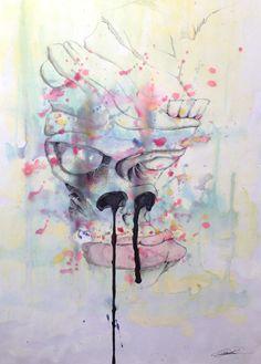 """""""Stubborn."""" Watercolor Dimensions: (30x40) Artiste: Jimi Crainic"""