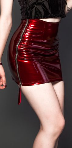 This colour and material is just <3 ! Lip Service skirt