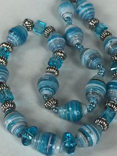 Paper Beads Necklace - Tiny Pieces - NCK 00385
