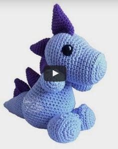 Dragón Crochet Dinosaur, Crochet Monsters, Crochet Unicorn, Dinosaur Toys, Crochet Animals, Crochet Baby, Crochet Dragon Pattern, Crochet Toys Patterns, Stuffed Toys Patterns