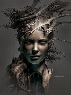 surrealismo, Baum des Lebens - - in 2020 Dark Fantasy Art, Fantasy Artwork, Art Noir, Art Sculpture, Angel Sculpture, Arte Horror, Masks Art, Surreal Art, Tree Of Life