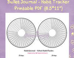Bullet Journaling Wheel Habit Tracker Printable Sticker | Track your monthly habits