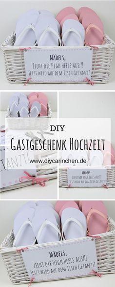 a3aa26e98 DIY Gastgeschenk Flip Flop Korb - Zieht die High Heels aus