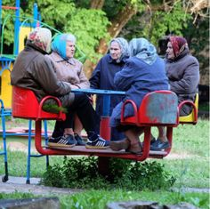 You are never too old for an outing to the park....