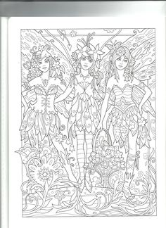 Fairy Coloring Pages, Printable Adult Coloring Pages, Animal Coloring Pages, Coloring Pages For Kids, Coloring Sheets, Coloring Books, Paper Toy, Copics, Fairies
