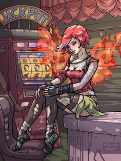 Ever seen a siren in action? Lilith Borderlands, Borderlands Series, Tales From The Borderlands, Mad Max, Video Game Art, Video Games, Fanart, Kawaii, Game Character