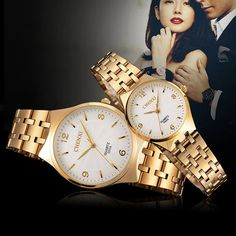 Cheap watch casual, Buy Quality watch device directly from China watch it watch Suppliers: 2017 New Fashion CHENXI Branded Women Men Quartz Watch Dress Wristwatches Fashion Casual Couple gold Watches For Lover