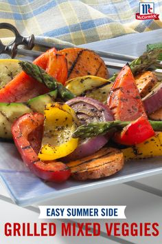 Enhance this grilled vegetables recipe with a sweet and spicy blend of seasonings. Mix up your favorite summer veggies for an easy and delicious backyard barbecue side dish.