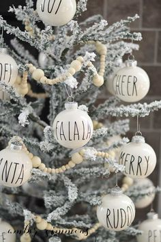 This Rae Dunn Inspired Christmas Ornament DIY will give your tree the perfect amount of simplicity while still being fun. And they will go with any Christmas decor whether it's farmhouse or modern.