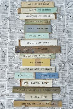 wood & word signs by wood & wool stool, via Flickr
