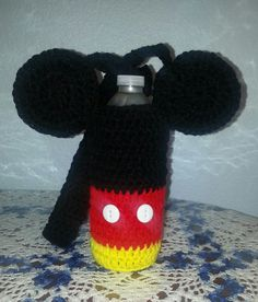 Mickey Mouse Water Bottle Holder by Shannanagans13 on Etsy, $12.00