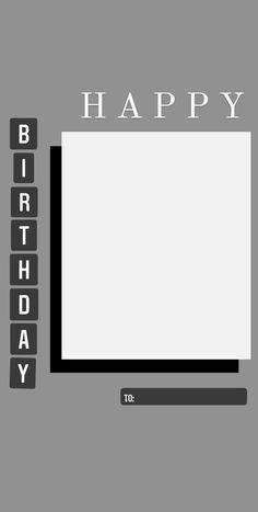 Happy Birthday Template, Happy Birthday Frame, Happy Birthday Posters, Happy Birthday Wallpaper, Birthday Frames, Happy Birthday Messages, Birthday Captions Instagram, Birthday Post Instagram, Instagram Story Ideas