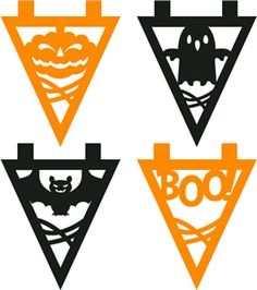 Silhouette Online Store - View Design #33393: assorted halloween spooky fun party bunting