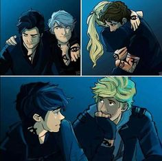 Will Herondale and Jem Carstairs, Alec Lightwood and Jace Herondale/Lightwood, Julian Blackthorn and Emma Carstairs