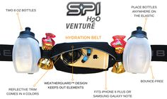 Give the marathoner in your life the best hydration belt out there! The SPI H2O™ Venture Series hydration belt has two 8 ounce bottles that can be placed anywhere on the elastic! Runners can choose what is most comfortable for them!