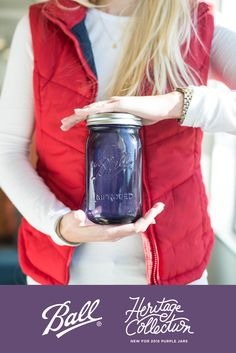 2015 is the third and final year of Ball Canning's multi-year limited edition series of Heritage Collection jars. These limited edition Purple Heritage Collection Jars, available in pint and quart sizes, are perfect for canning, crafting or collecting!