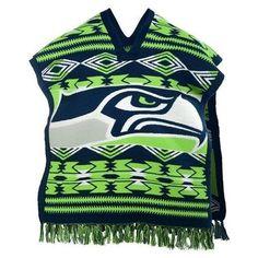 Seattle Seahawks NFL Football Team Logo Unisex Poncho