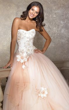 Modern Scoop Neck Natural Waist With Ball Gown Dress  Ball Gown, Floor Length, Scoop, Natural, Sleeveless, Beading, Embroidery, Hand Made Flowers, Ruffles, Sashes/Ribbon, Lace-Up, Satin, Tulle, Church, Garden/Outdoor, Hall, Spring,