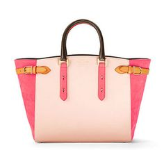 Marylebone Tote in Misty Rose Pebble & Coral Nubuck - Aspinal of London