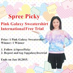 Follow @spreepicky and hashtag #spgalaxyfreetrial win this lovely sweatershirt and join our collection of best review, US$50 credit!