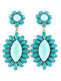 Fashion Blue Bead Earrings US$7.67