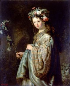 Rembrandt • Flora • 1634 Oil on canvas, Hermitage Museum {brings back childhood…