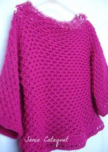 Loom Knitting : The Fab Bright Pink Sweater Pattern by Sonia