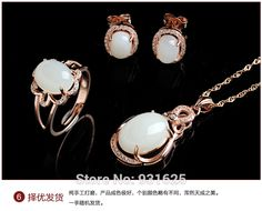 >> Click to Buy << 925 silver Natural White HeTian Gem Stone Lucky Pendant Necklace Earring Ring Set + certificate Fashion Jewelry #Affiliate