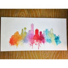 Dallas Skyline // Custom Skyline Watercolor by averycampbellART, $100.00