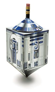 Dreidel + R2-D2 = Droidel  Learn how to make this Droidel and more geektastic projects in The Star Wars Craft Book. Feliz Hanukkah, Hanukkah Crafts, Hanukkah Decorations, Hannukah, Xmas Crafts, Papercraft Star Wars, Papercraft Download, Book Crafts, Paper Crafts