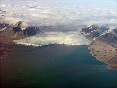 Maravillas de #Svalbard #Noruega: Frente glaciar desde el aire - Foto Álvaro Jacobo