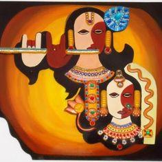 Sri Radha Krishna Art.
