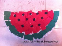 W is for Watermelon, Preschool paper plate craft! What a great idea!