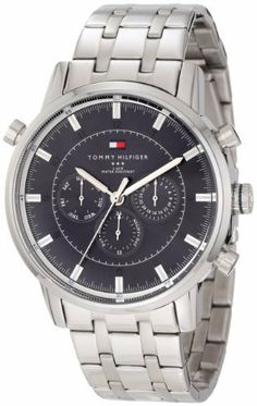 Tommy Hilfiger Men's 1790876 Sport Luxury Multi-Function Blue Dial Stainless Steel Bracelet Watch Tommy Hilfiger. $140.00. Quartz multi function movement. Durable mineral crystal protects watch from scratches. Water-resistant to 50 M (165 feet). Multi function watch, stainless steel case. Case diameter: 44 mm