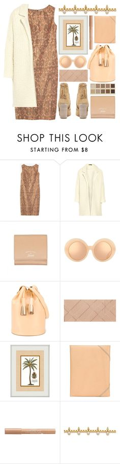 """""""lovely sunday"""" by foundlostme ❤ liked on Polyvore featuring Maje, Gucci, LORAC, Linda Farrow, Building Block, Burberry, Isaac Reina, Bourjois, Joomi Lim and neutral"""