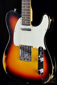 Fender 1963 Telecaster Time Machine Relic Three Tone Sunburst - Wild West Guitars
