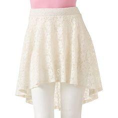 Joe Benbasset Lace Hi-Low Skirt - Juniors