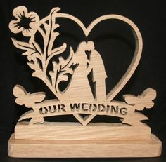 Our Wedding with Butterflies handmade on the scroll saw. £18.99