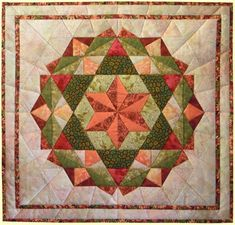 Six Pointed Star by Dutch quilter Lies Bos-Varkevisser.