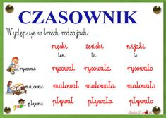 czasownik4 Learn Polish, Polish Language, English Vocabulary, Poland, Homeschool, Education, Learning, Kids, Speech Language Therapy